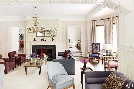 The living room of a Boston townhouse by Thad Hayes.