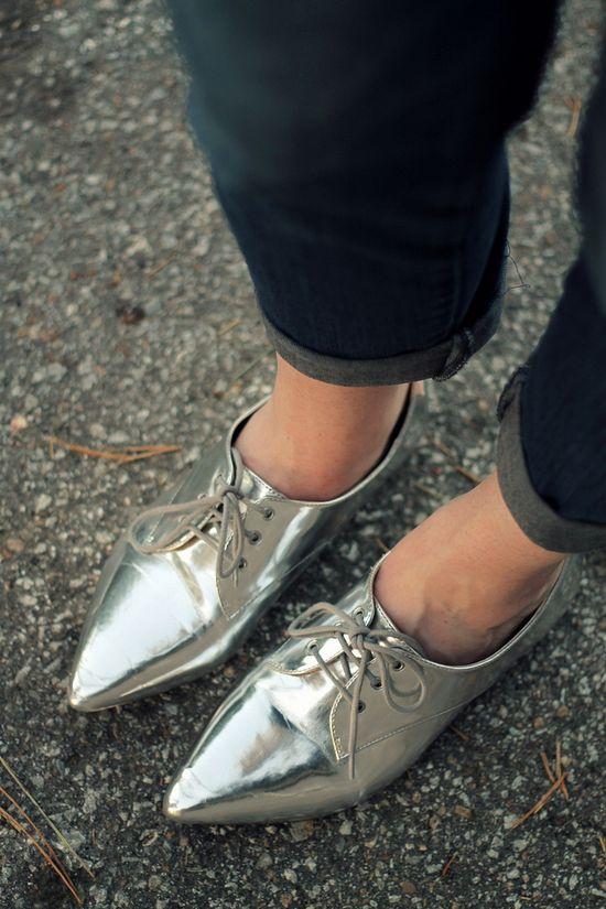 silver menswear brogues #yesplease
