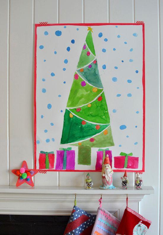 giant christmas tree paintings