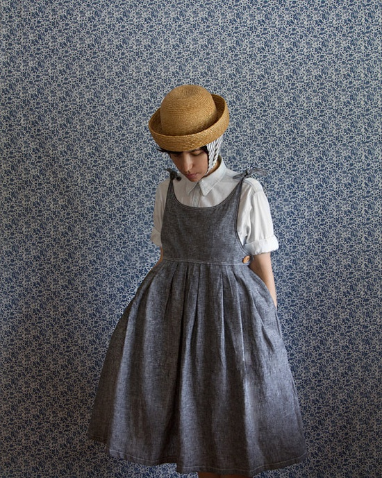 The Mary-Jane Dress in Grey Linen