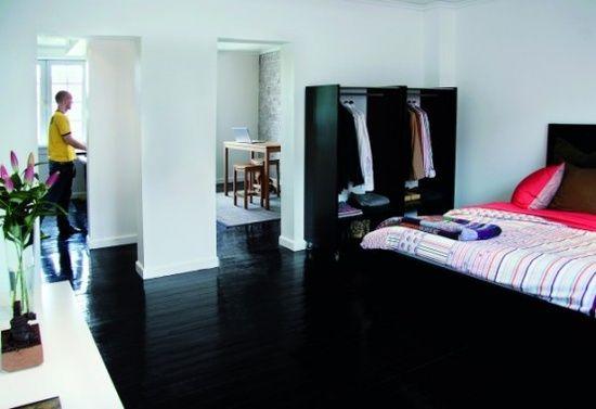black floor bedroom color