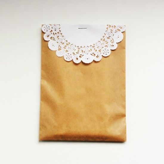 Kraft Bags and Doilies  Set of 10 by packagery on Etsy, $ 3.25