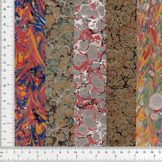 Handmade Marbled Paper SheetPerBook Set of 10 by HandMarbledPaper, $56.90