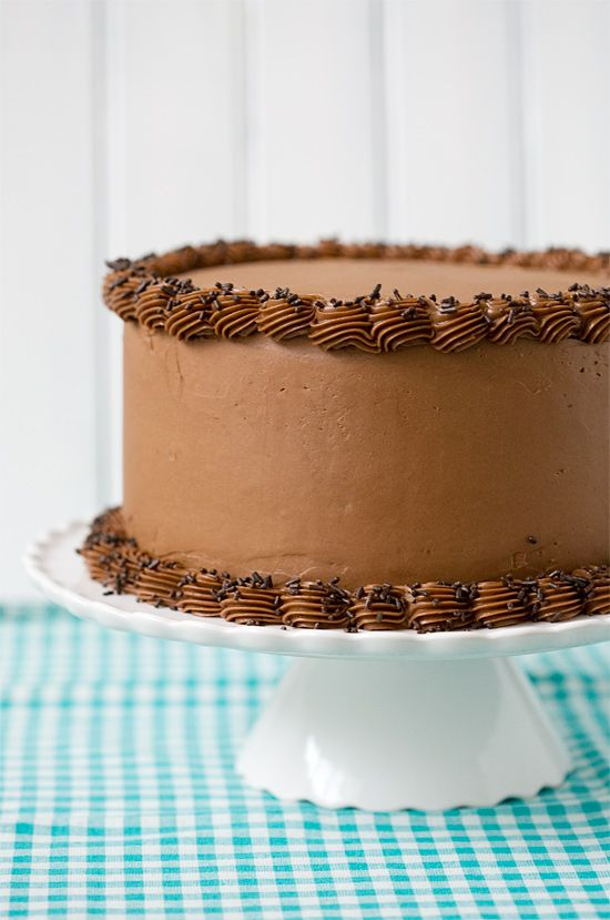 Bourbon Layer Cake with Bourbon Ganache and Milk Chocolate Buttercream - Brion bday