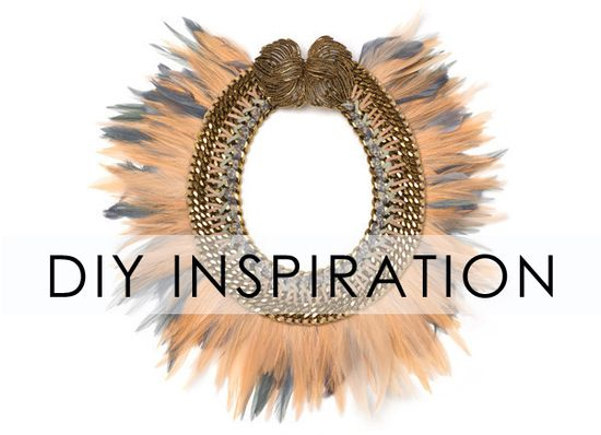 DIY jewelry inspiration - fringe and spike bead necklaces