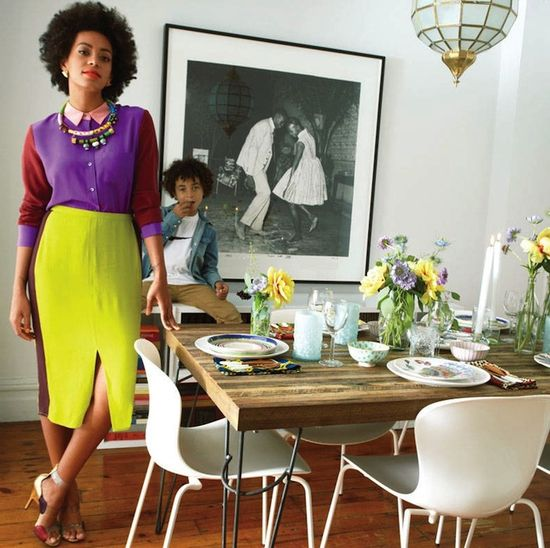 Style Stalking: Solange Knowles at Home