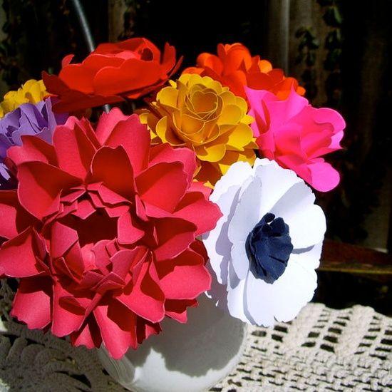MIX Flowers  Handmade Paper Flowers #handmade journals #gangnam style #nwa express yourself #handmade bread #bc rich handmade