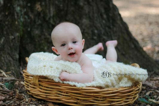 baby boy in a basket. obviously.