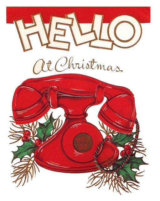 Hello at Christmas!