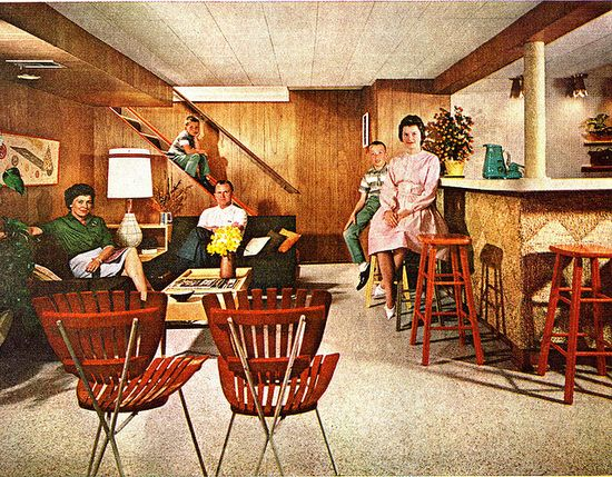 Hanging downstairs in the rumpus room, Better Homes and Gardens 1963