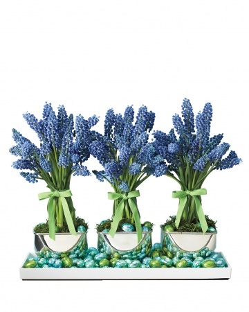 Another beautiful arrangement for spring or Easter.  From Martha Stewart Living