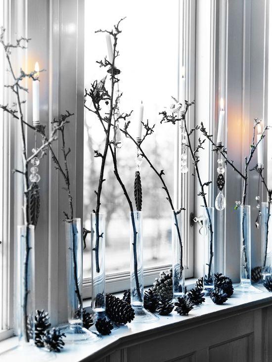 stylish black and white christmas decor 12 » Black and White Christmas Decorating Ideas