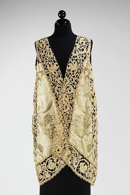 Evening vest  Attributed to Callot Soeurs (French, active 1895–1937)  Designer: Attributed to Madame Marie Gerber (French) Date: ca. 1910 Culture: French (probably) Medium: silk, linen, metal