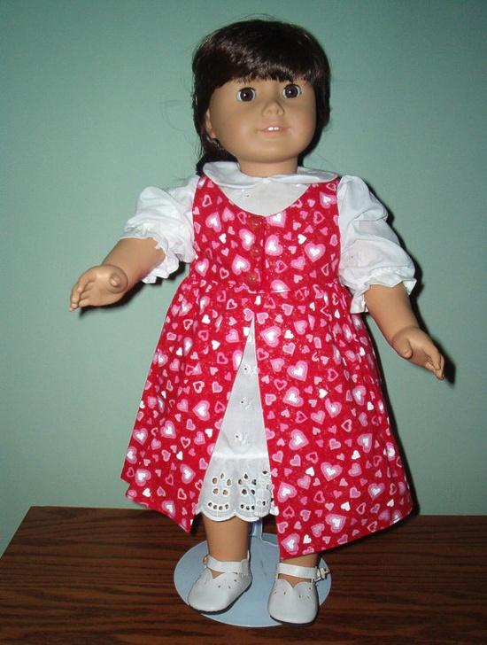 Valentine Jumper set for American Girl Doll by BarbarasClassics, $22.00