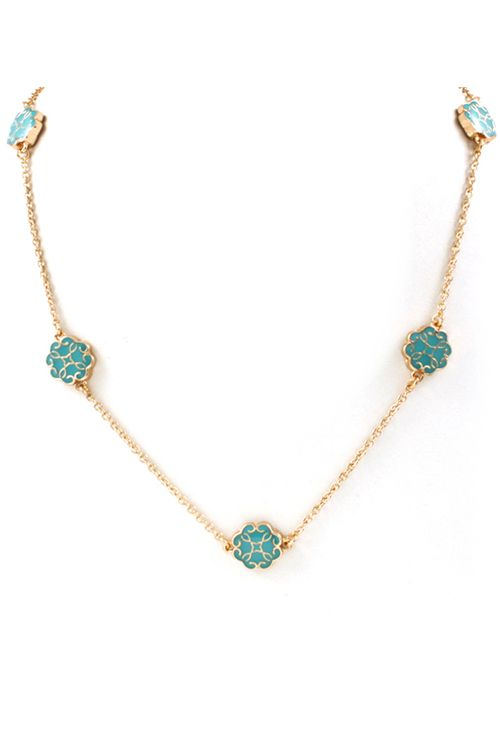 Madrid Necklace in Turquoise