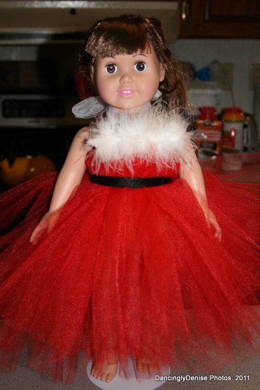 Santa dress for American Girl Doll