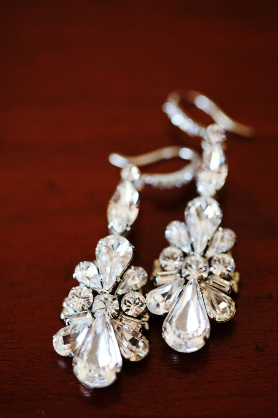 Beautiful earrings! From wedding on SMP (StyleMePretty.com... Photography by jennawalkerphotog...