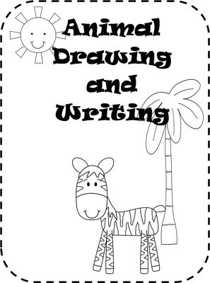 """book of """"how-to draw"""" animals - perfect for writing center. They can choose an animal to draw and they write about it. Could even include research on that animal....."""