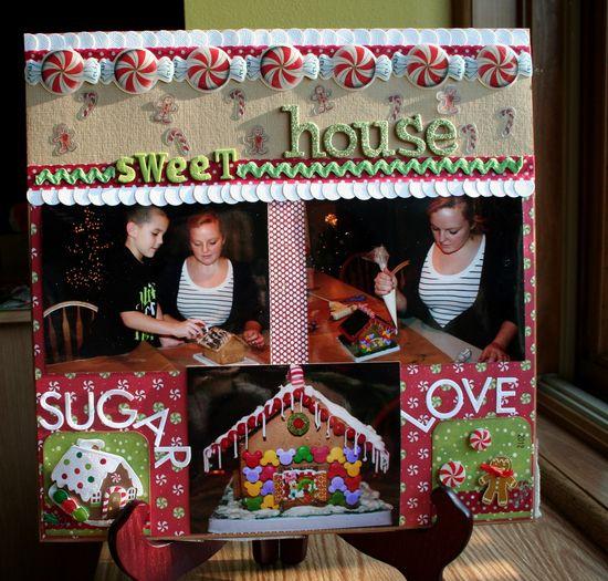 #papercraft #scrapbook #layout Sweet House - Scrapbook.com