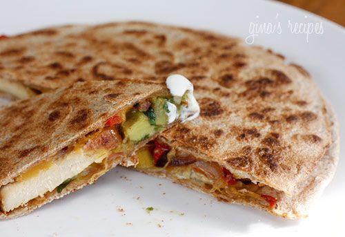 less than 400 calories chicken quesadillas!
