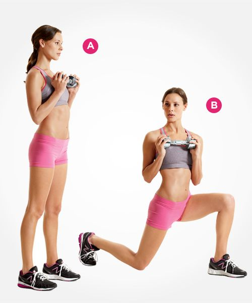 reverse lunge and rotate