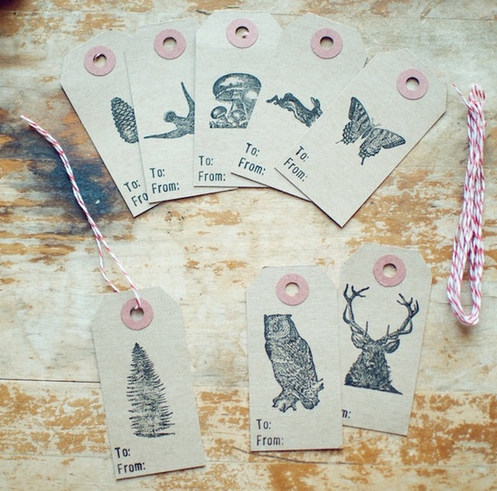 cute woodland gift tags