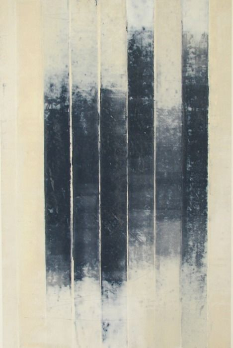 glovaskicom:    Revealed #9, oil and wax on paper, Doug Glovaski 2009