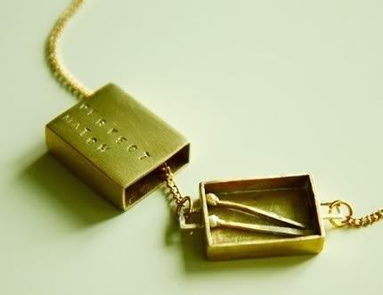 Perfect Match necklace - such a creative take on romantic Valentines Day jewelry
