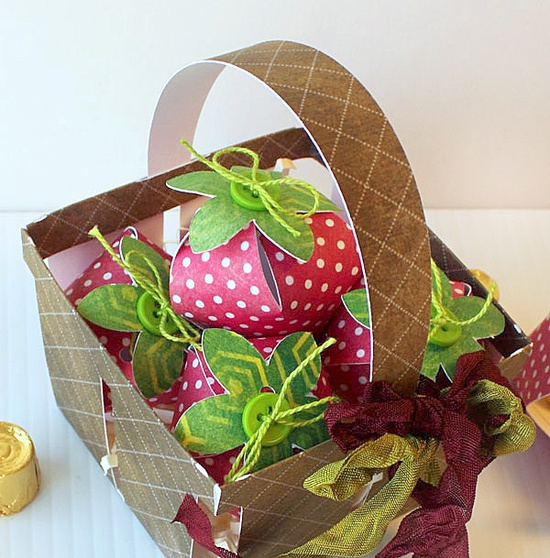 A very Cricut basket of strawberries!  Uses Spring Cottage