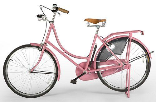 różowy rower Amsterdam