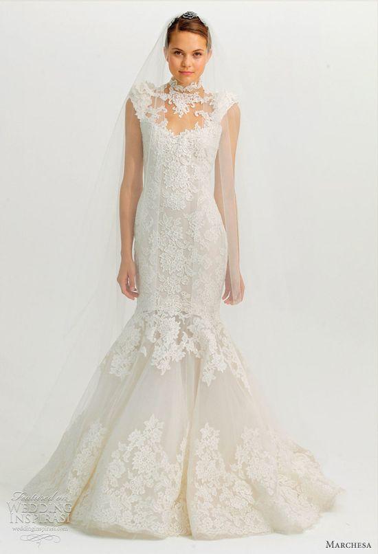 marchesa fall 2012 wedding dress - lace mermaid gown