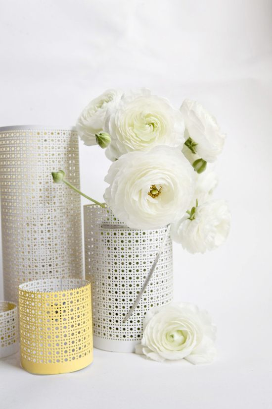 Turn radiator covers into vases (or candle holders).