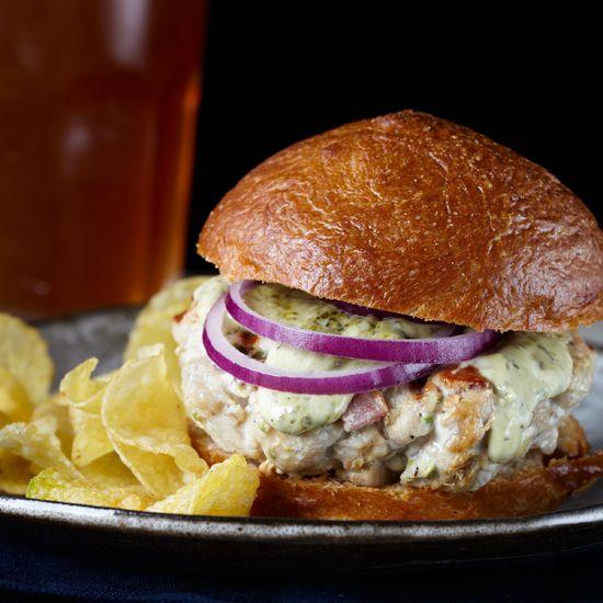 Smoky Tuna and Bacon Burgers with Lemongrass Aioli // More Delicious Tuna Recipes: www.foodandwine.c... #foodandwine