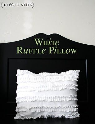 White ruffle pillow: need to get a ruffle foot!