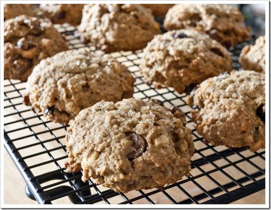 peanut butter and banana breakfast cookies