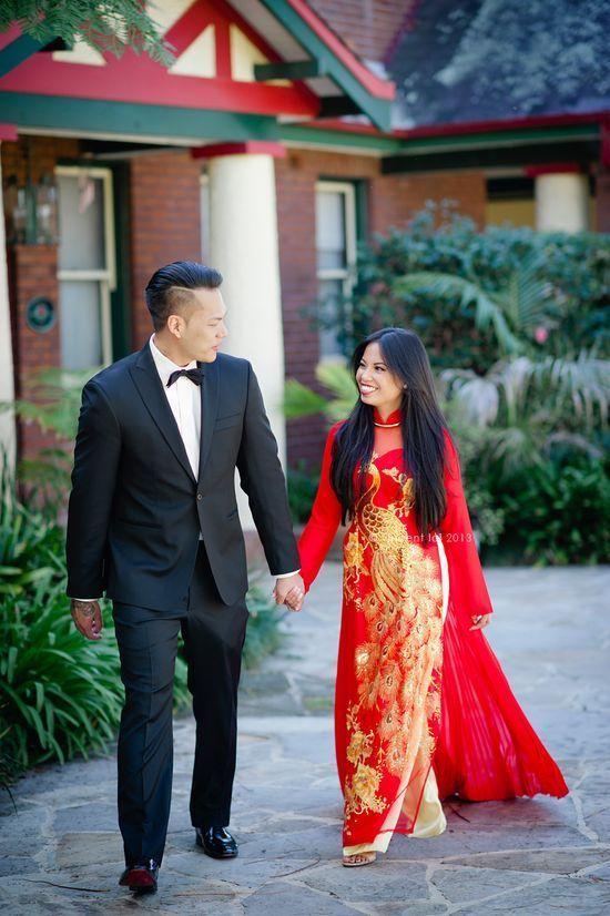 Traditional #wedding #aodai with hair