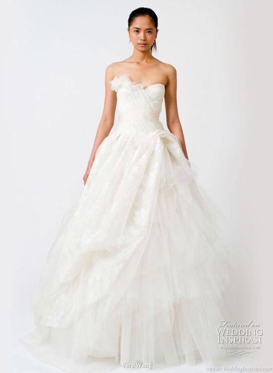 Spring 2011 white wedding dress from Vera Wang Bridal