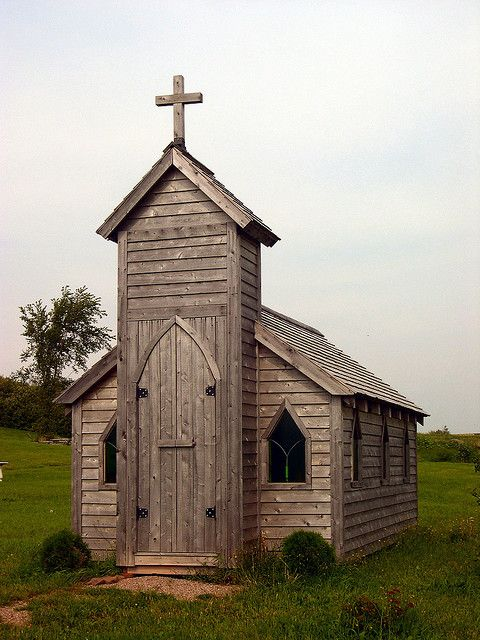 tiny wood church