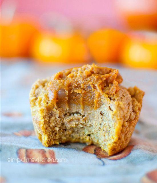 Pumpkin muffins filled with pumpkin pie. A must-try for pumpkin lovers!