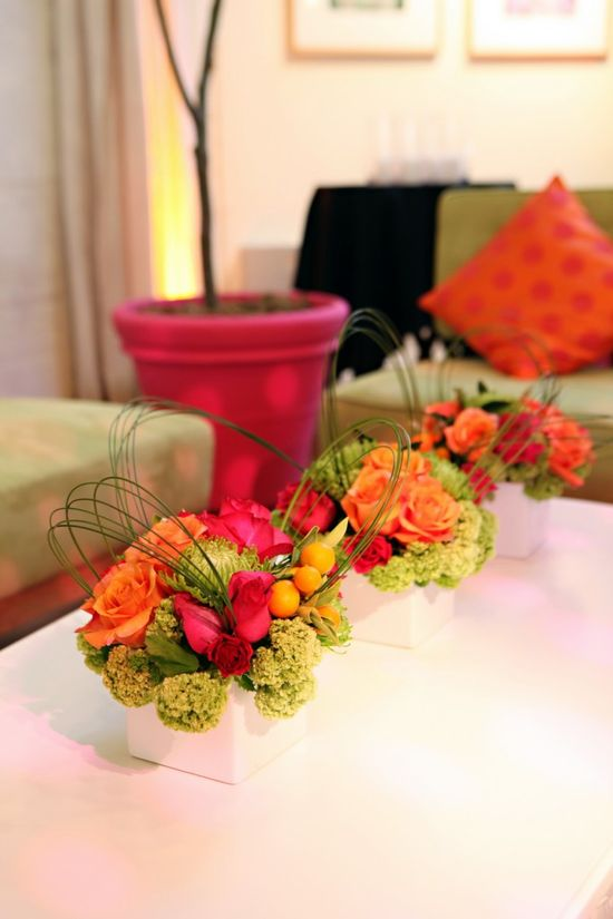 Bright, fun colors.  #flowers #wedding