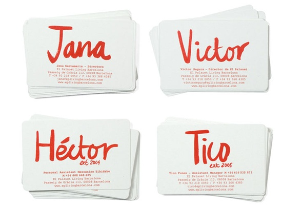 painted type business cards
