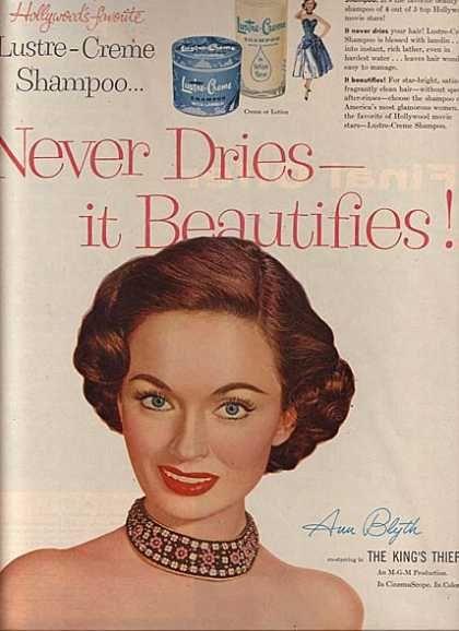 Ann Blyth 1955. Lustre Creme.