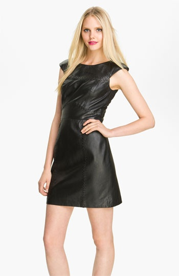 French Connection Stitch Detail Leather Sheath Dress #Nordstrom