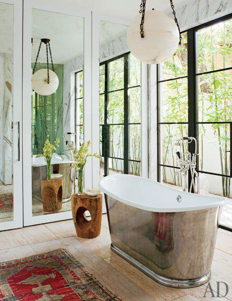 Waterworks tub :: Designed by Jenni Kayne :: Architectural Digest