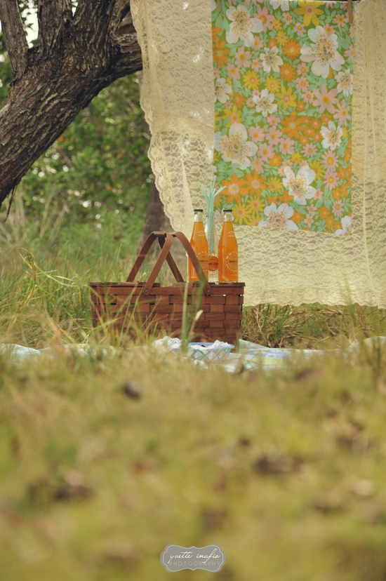 Yvette Inufio. #vintage #picnic #summer #yvetteinufio