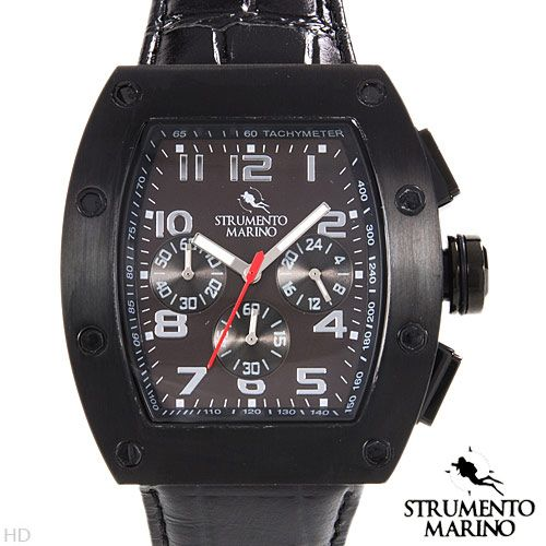 STRUMENTO MARINO SM056LBK/BK Chronograph Men's Watch