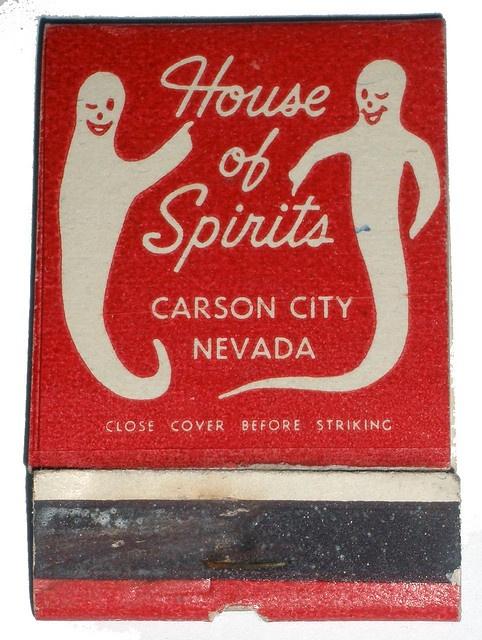 House of Spirits - vintage matchbook