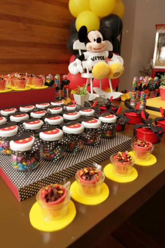 A really cute Mickey Mouse 1st Birthday Party via Kara's Party Ideas. #mickey #mouse #1st #birthday #party #ideas