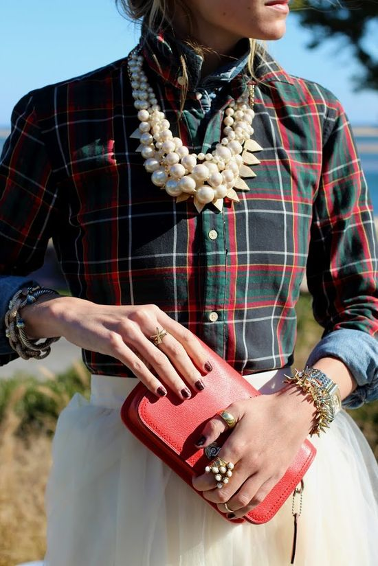 Plaid and bold Fall statements
