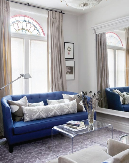 #living room #interior design #blue